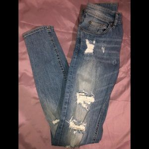 H&M Jeans - MENS RIPPED SKINNY JEANS
